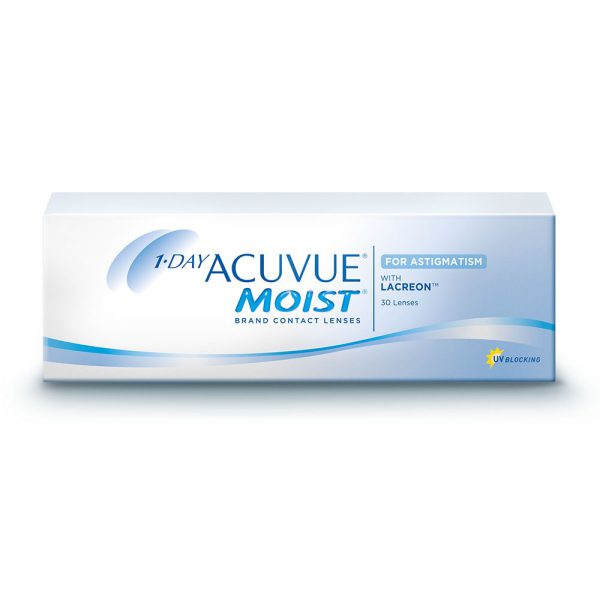 1-Day Acuvue Moist for Astigmatism – 30 Lenses